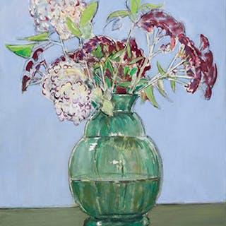 Hydrangeas and Sedum - Joseph Francis (Joe) Plaskett