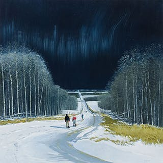 Country Road in Moonlight - Peter Shostak