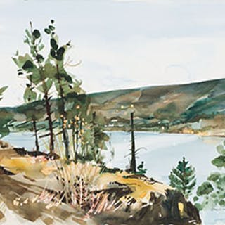 Edge of Cliff, Okanagan Lake - Jack Hambleton