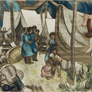 Montagnais Encampment - Andre Charles Bieler