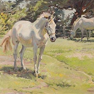 Farm Scene near Valleyfield, Quebec - Robert Elmer Lougheed