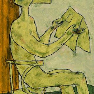 Homme lisant son jourrnal - Jean-Philippe Dallaire
