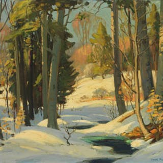 Winter Forest Scene - Frank Shirley Panabaker