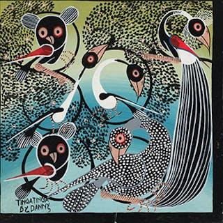 Peacock with Animals - Tinga Tinga by Danny