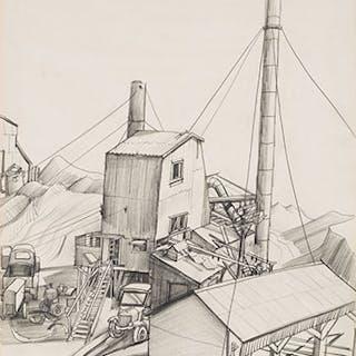 Cement Mill & False Creek - Jack Leonard Shadbolt