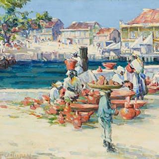 West Indies Market Scene - Florence Helena McGillivray