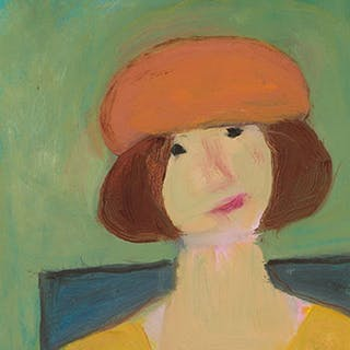 Kate in a Red Cap - Jori (Marjorie) Smith