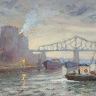 Port Scene, Montreal - Antoine Bittar