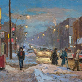 Evening on Queen Mary Road, Montreal - Antoine Bittar