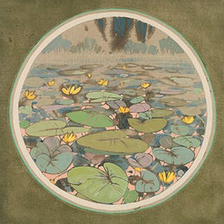 Lily Pads Tondeau - Edward William (Ted) Godwin
