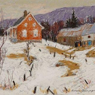 Winding Fence Posts, Cap aux Corbeaux, Baie St-Paul, PQ - Horace Champagne