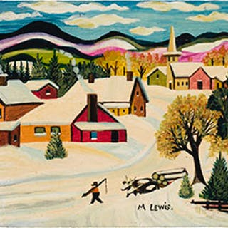 Hauling Logs in Winter - Maud Lewis