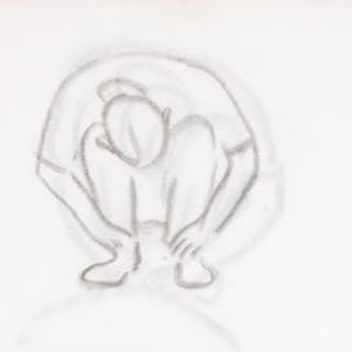 Crouching Figure / Crouching Figure (verso) - William Goodridge Roberts