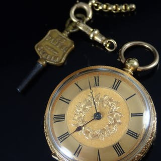 18ct gold large fob/pocket watch approx