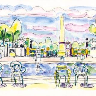 Blick von den Tuilerien auf den Place de la Concorde - Ivo Hauptmann