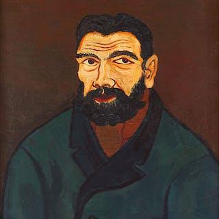 Mann mit schwarzem Bart 1928 - Josef Scharl