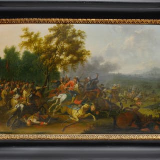 Schlachtengemälde aus den österreichischen Türkenkriegen, zugeschrieben