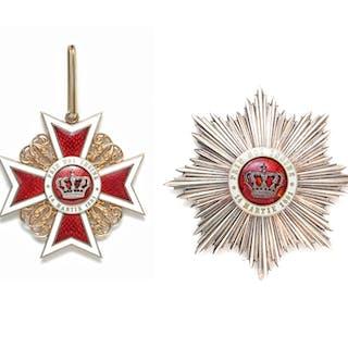 Rumänien, Orden der Krone von Rumänien - Set zum Großoffizier