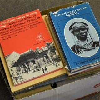 A large quantity of books about Natal (now KwaZulu-Natal), South Africa.