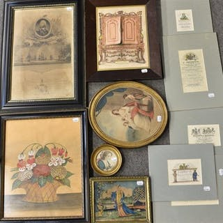 A selection of 19th and 20th century prints to include 'The cabinet'