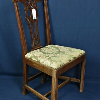 A Chippendale style dining chair, 3rd quarter 18th century, foliate