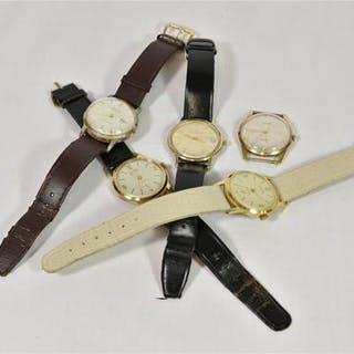 A small collection of vintage gentleman's wristwatches