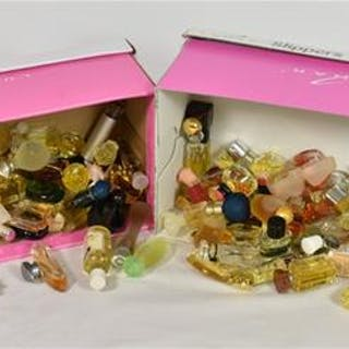 A large quantity of assorted miniature perfume bottles including Paco