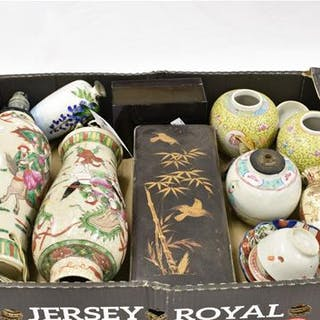 A collection of Chinese & Japanese porcelain and collectables