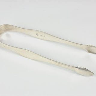 A pair of Channel Islands silver sugar tongs