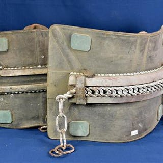 Two heavy horse harness back pads (2)