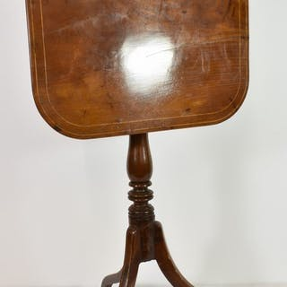 A George III tilt-top tripod table