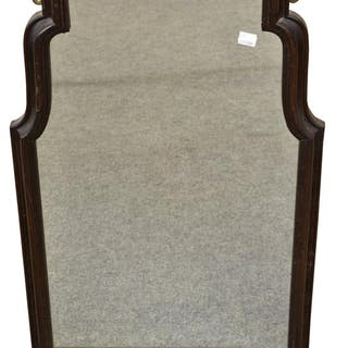 A Queen Anne style rosewood framed mirror, c.1900