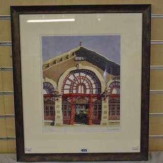 Ian Rolls - signed limited edition print, Jersey Central Market, 173/800