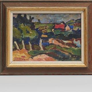 Oljemålning, Axel Olson (1899-1986)