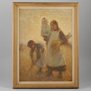 Oljemålning, Ernest Borough Johnson (1866-1949)