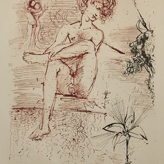 Etsning, Salvador Dalí (1904-1989)