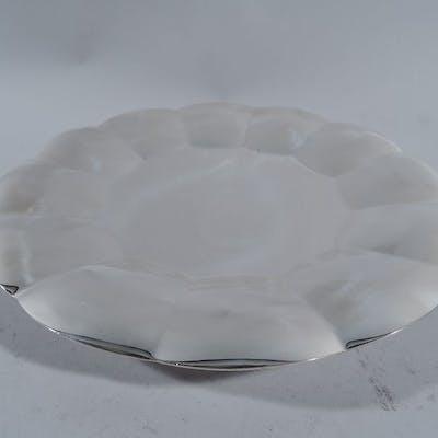 Sale Price: Modern sterling silver cake plate