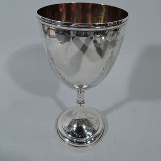 Sale Price: Victorian sterling silver goblet