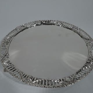 Sale Price: Edwardian sterling silver salver
