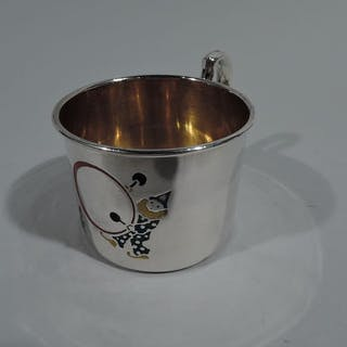 Sale Price: Novelty sterling silver baby cup