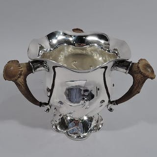 Sale Price: Big Game-era sterling silver alpha loving cup