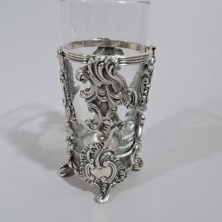 Sale Price: Fancy Rococo sterling silver highball holder