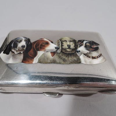Sale Price: German 800 silver and enamel case
