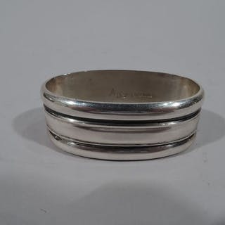 Sale Price: Midcentury Modern sterling silver napkin ring