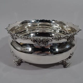 Sale Price: Fancy sterling silver cachepot