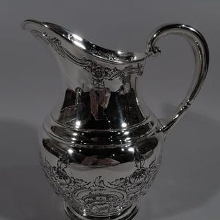 Sale Price: Large and pretty sterling silver water pitcher