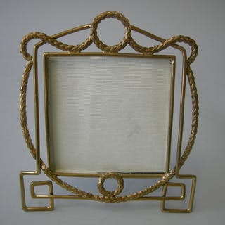 Sale Price: An Antique English Brass Wire Picture Frame...