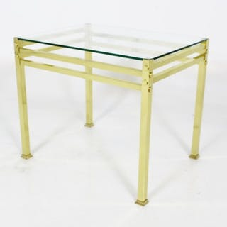 Side table 1970s Metal Glass