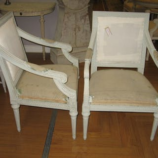 32 A pair of armchairs Gustavian style