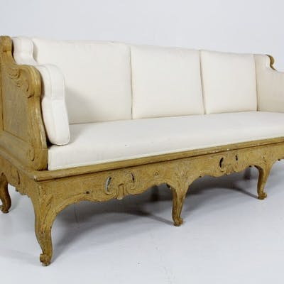 E12. Swedish rococo sofa from the period.